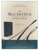 ESV MacArthur Study Bible, 2nd Edition--genuine leather, black (indexed)