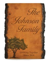 Personalized, Barky Sign, with Tree, Family