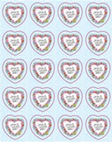 120 Jesus Loves Me Christian Shape Stickers