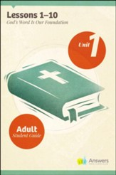 Answers Bible Curriculum Adults Unit 1 Student Guide (2nd Edition)