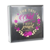 For This Child I Have Prayed Mirror Plaque