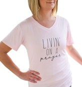 Livin' on a Prayer Shirt, Pink, Large