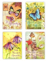 Sympathy Boxed Cards, Floral Butterfly