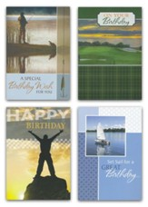 For Him, Birthday Cards, Box of 12