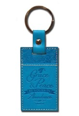 1 Peter 1:2 Keychain, Blue