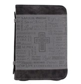 Names of God Bible Cover, Black and Grey, Large