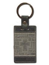 Names of God Keychain, Black and Grey