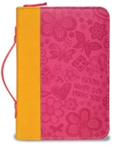 Bloom Bible Cover, Orange and Pink, Large