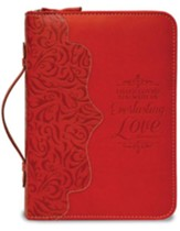 Everlasting Love, Jeremiah 31:3 Bible Cover, Red, Large
