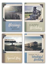 Locomotives, Birthday Cards, Box of 12