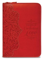 Everlasting Love, Jeremiah 31:3 Zipper Journal, Red