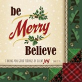 Christmas, Party Napkins, Be Merry, Believe