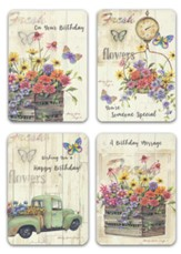 Fresh Flower Wishes, Birthday Cards, Box of 12