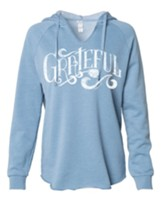 Grateful Hooded Sweatshirt, Blue, Medium