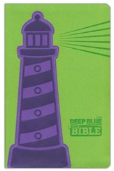 CEB Common English Bible Deep Blue Kids Bible-Lighthouse DecoTone imitation leather