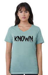 Known V-Neck Shirt, Seafoam, Medium