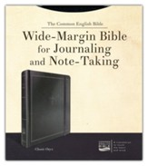 CEB Wide-Margin Classic Onyx Bible:  For Journaling and Note-Taking