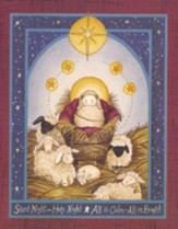 Christmas Cards, Silent Night, Baby Jesus With Sheep, Box Of 12