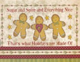 Christmas Cards, Sugar And Spice, Gingerbread Men, Box Of 12