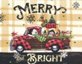 Christmas Cards, Merry And Bright, Plaid, Box Of 12