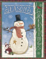Christmas Cards, Seasons Greetings, Snowman, Box Of 18