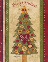 Christmas Cards, Merry Christmas, Joy, Tree, Box Of 12