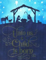 Christmas Cards, Unto Us A Child Is Born, Silhouette, Box of 12