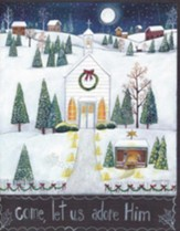 Christmas Cards, Come Let Us Adore Him, Church, Box of 12