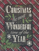 Christmas Cards, Christmas, The Most Wonderful Time of The Year, Plaid, Box Of 12