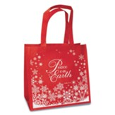 Peace on Earth, Eco Tote, Red