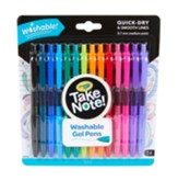 Take Note! Washable Gel Pens, 14 Pieces