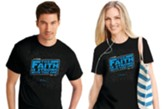 Faith Is Strong Shirt, Black, Large    , Unisex