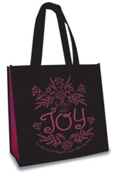 Filled With Joy, Eco Tote, Black and Pink