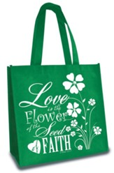 Seed of Faith, Eco Tote, Green