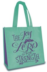 Joy of the Lord, Eco Tote, Aqua