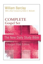 New Daily Study Bible, Large-Print Edition: Gospel Set