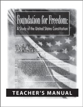 Foundation for Freedom Teacher's  Manual: A Study of the United States Constitution - PDF Download [Download]