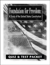 Foundation for Freedom Quiz and Test Packet: A Study of the United States Constitution - PDF Download [Download]