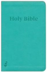 ERV Holy Bible--soft leather-look, teal