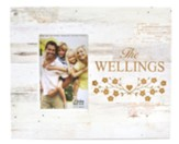 Personalized, Photo Frame Box, 4x6, Family, White Wood