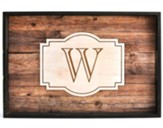 Personalized, Tray with Rustic Look, Monogram
