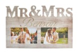 Personalized Mr & Mrs Wedding Photo Frame, Grey