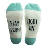 Stay Strong Fight On Socks, Medium/Large
