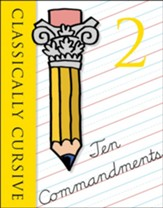 Classically Cursive Ten Commandments Book 2 Second Edition