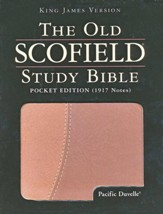 KJV Old Scofield Pocket Edition Pacific Duvelle Brown & Tan