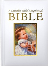 A Catholic Child's Baptismal Bible, Cloth over boards