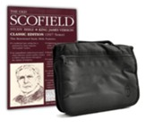 KJV Old Scofield Study Bible, Classic Edition--bonded leather, black with Bible Cover