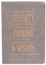 Serenity Prayer Journal, LuxLeather, Gray