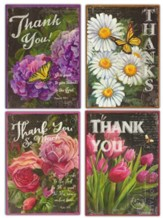 Chalk Flowers and Butterflies Thank You Cards, Box of 12
