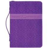 Hope in the Lord Bible Cover, Purple, Medium